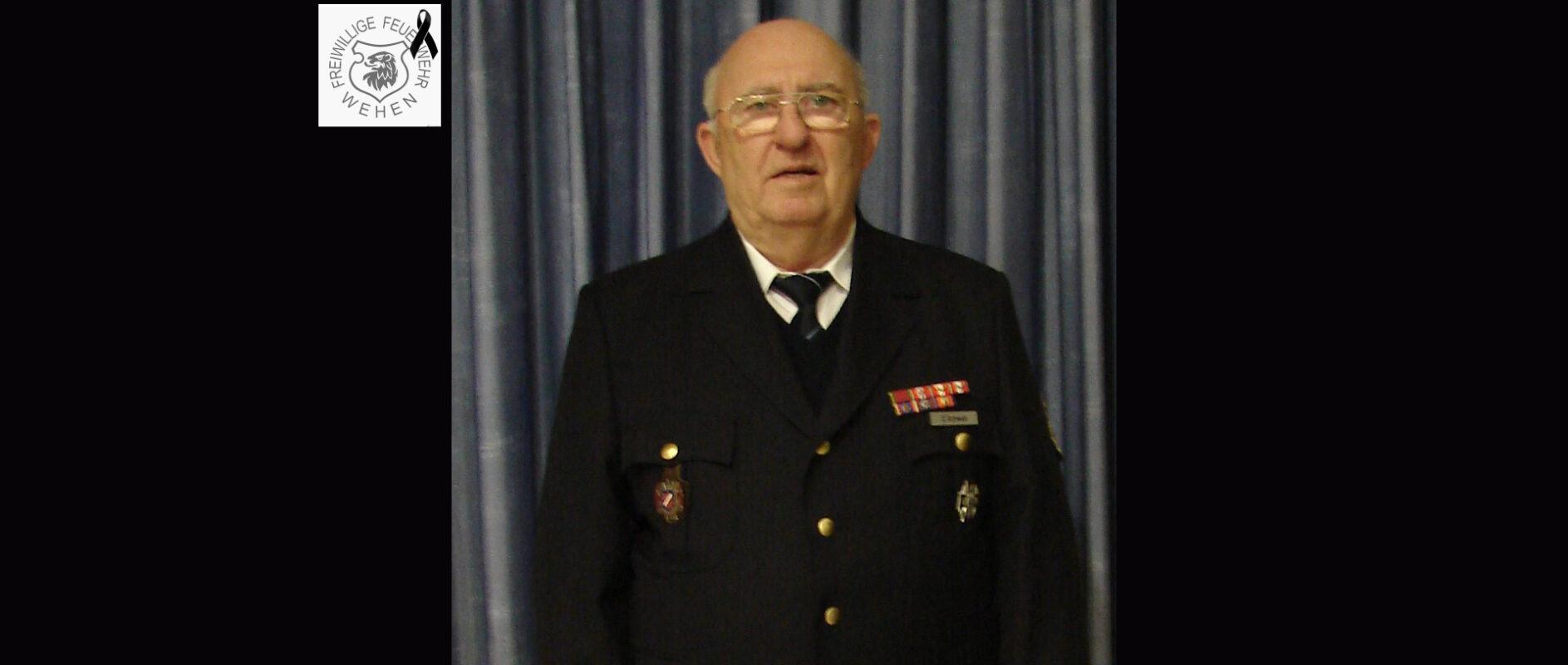 Erich Schwab Feuerwehr Wehen Ehrenmitglied